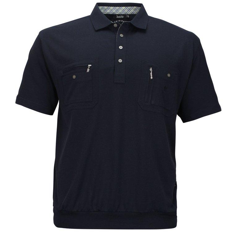 Poloshirt mit Bündchen - dunkelblau