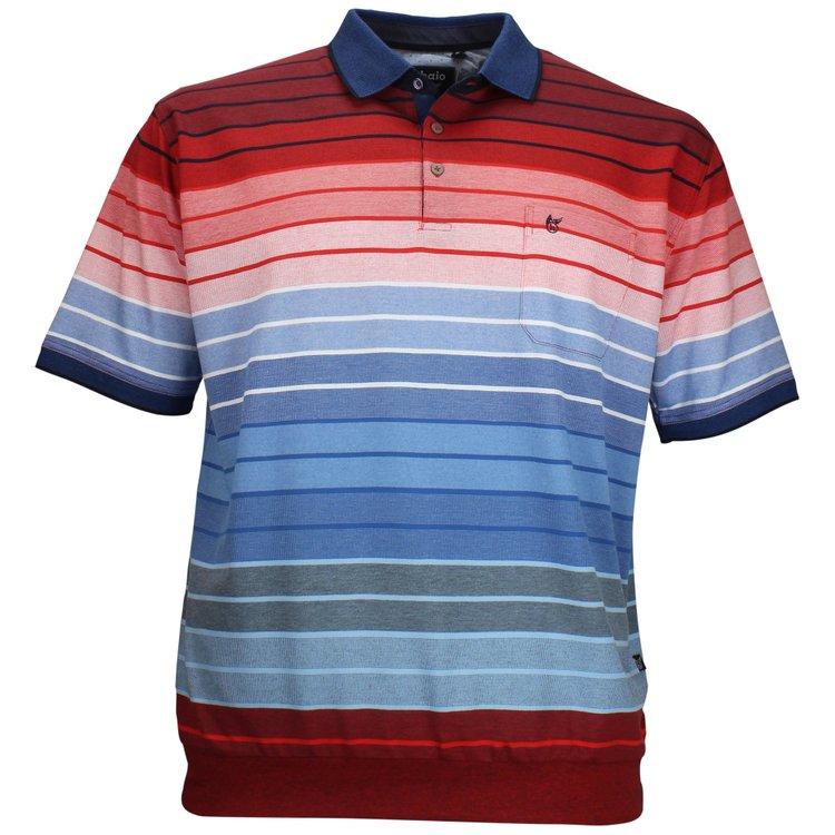 hajo Poloshirt Blau Gestreift