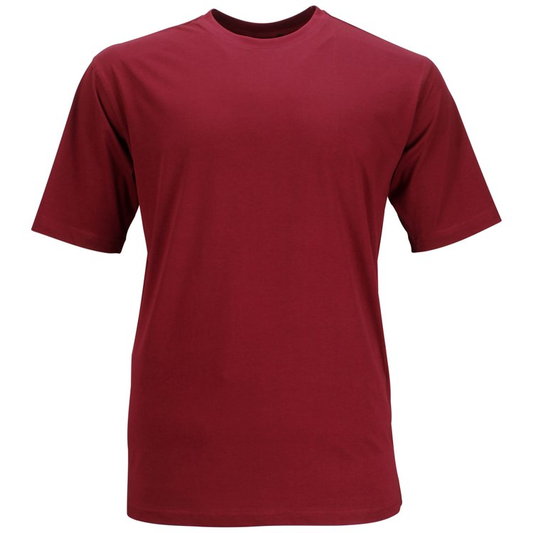 Miesner T-Shirt extra lang - weinrot