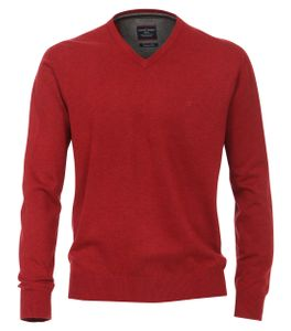 Extra langer Pullover Rot