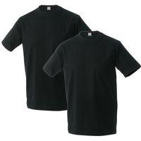 Adamo 2er Pack T-Shirt Schwarz 001
