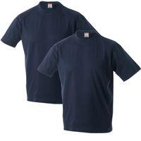 Adamo T-Shirts mit verlängertem Rumpf, 2er Pack, dunkelblau 001