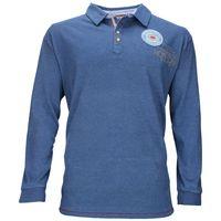 Kitaro Polo-Sweatshirt in Übergröße - blau 001