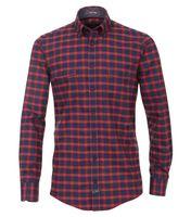 Casa Moda Twill Hemd in Überlänge - rot kariert 001