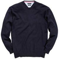 Redfield Rundhals Pullover in Übergrößen - dunkelblau 001