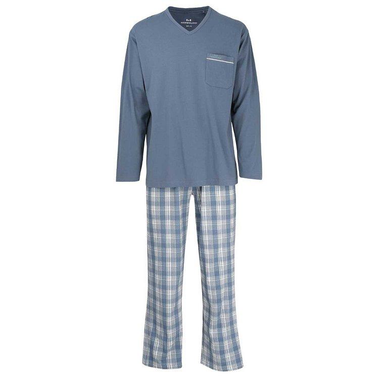 Blauer Schlafanzug in großen Größen von Götzburg