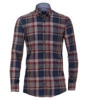 Casa Moda Freizeithemd extra langer Arm, Comfort Fit - grau/blau kariert 001
