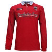 Kitaro Polo-Sweatshirt in Überlänge - rot 001
