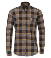 Casa Moda Oxford Hemd in Übergröße - anthrazit kariert 001