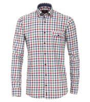 Casa Moda Freizeithemd in Übergrößen - rot kariert 001