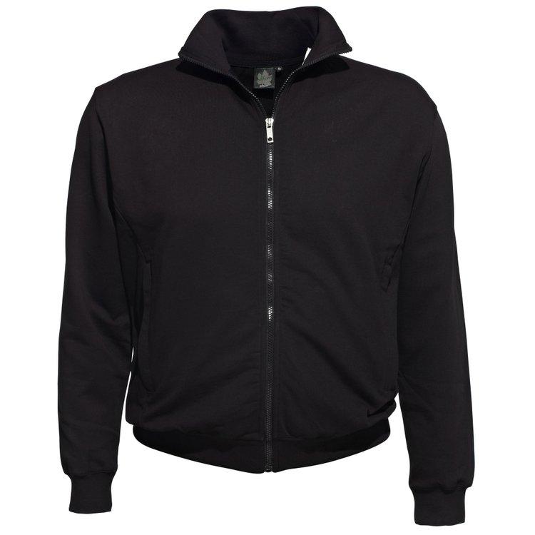 Sweatjacke in Übergröße in schwarz von Ahorn bis 10XL