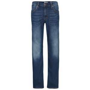 Jeans extra lang in blau im Used-Look