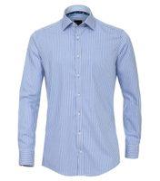 Venti Hemd extra langer Arm, Slim Fit - blau kariert 001