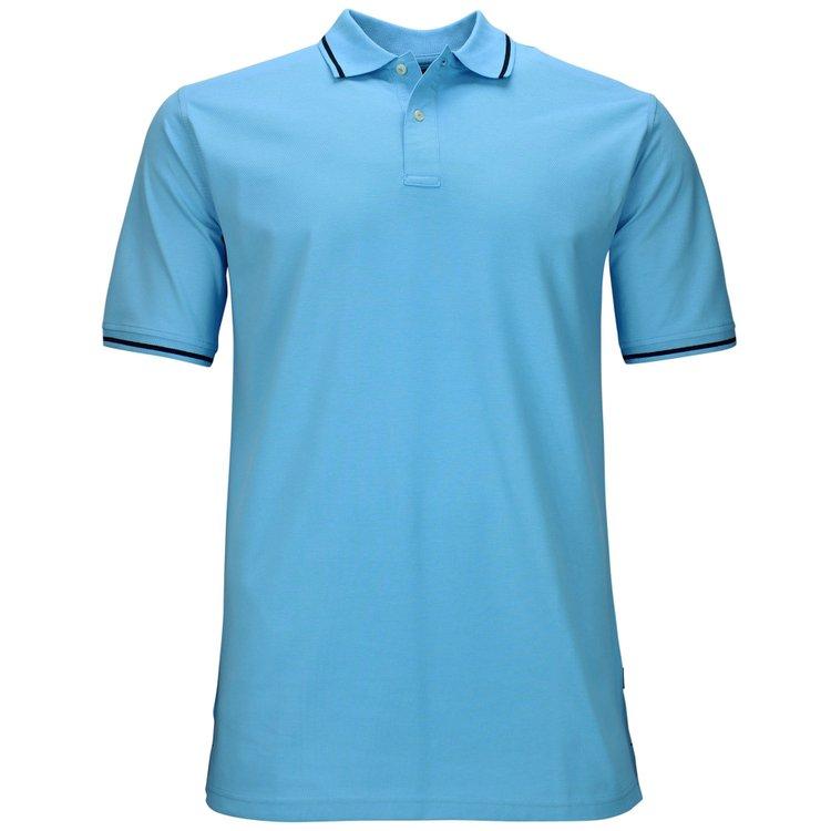 Extra langes Poloshirt, aqua