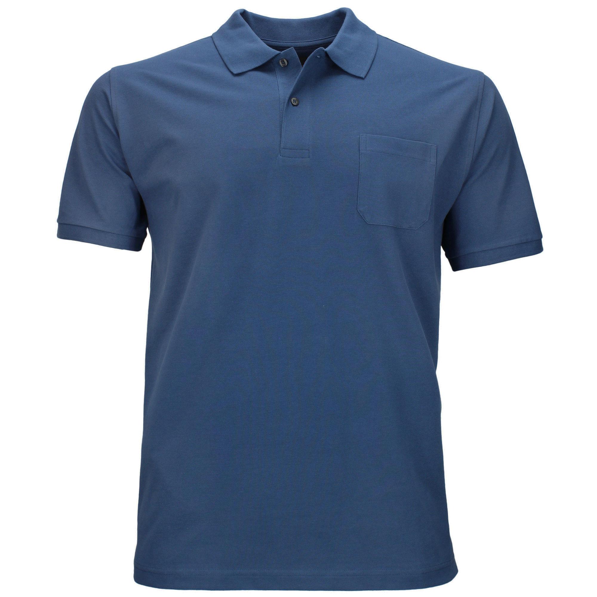 Kitaro Poloshirt große Größen - jeansblau 5bc1d43efc