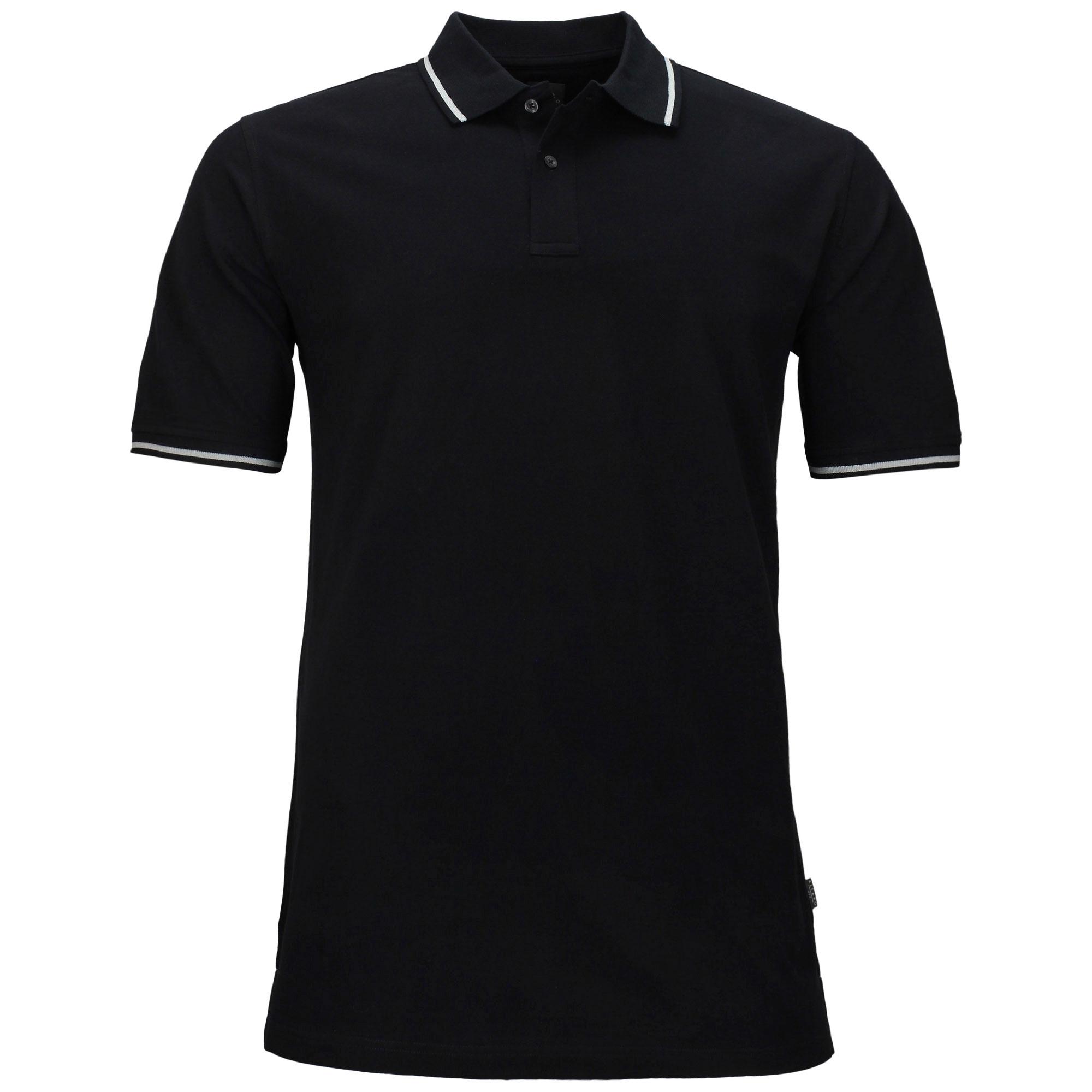 Übergrößen Poloshirt, schwarz