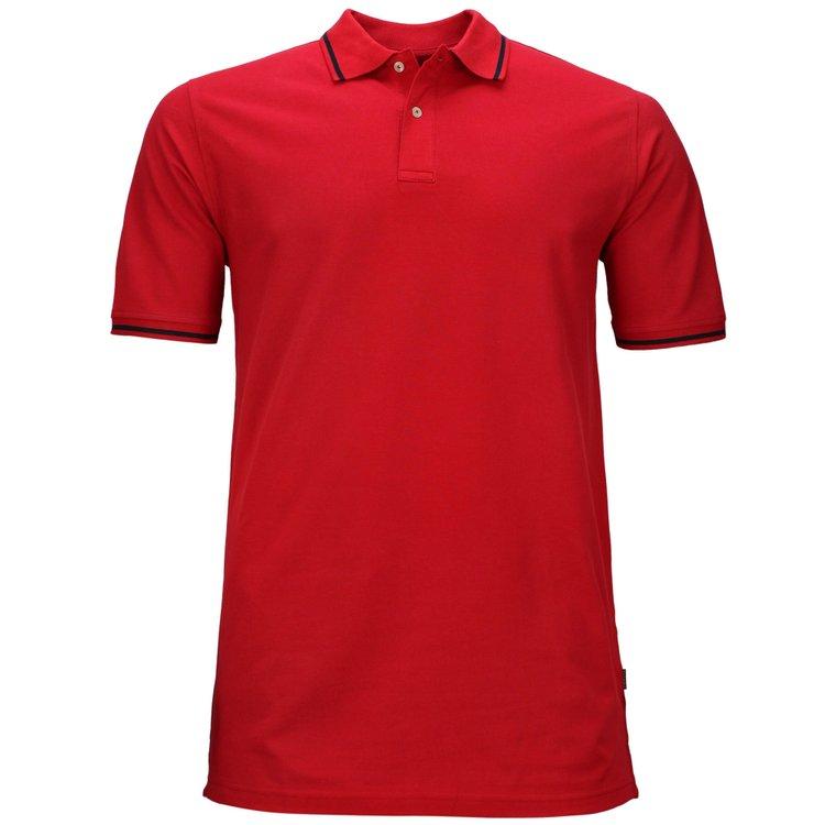 Männer Poloshirt in Übergrößen, rot