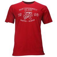 Extra langes T-Shirt von Kitaro - Surf Zone - rot 001
