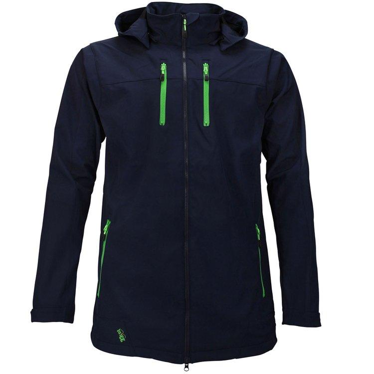Softshell Jacke extra langer Arm, dunkelblau/grün