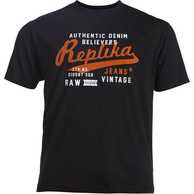 Männer T-Shirt Übergrößen, schwarz