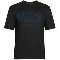 Ahorn T-Shirt große Größen - Miami Beach - schwarz 001