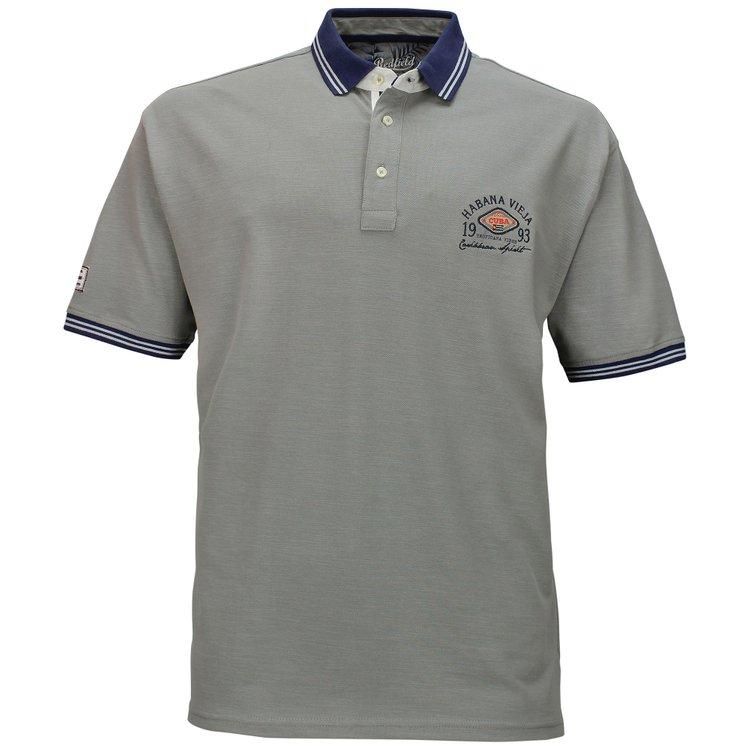 Männer Poloshirt von 3XL bis 8XL, grau