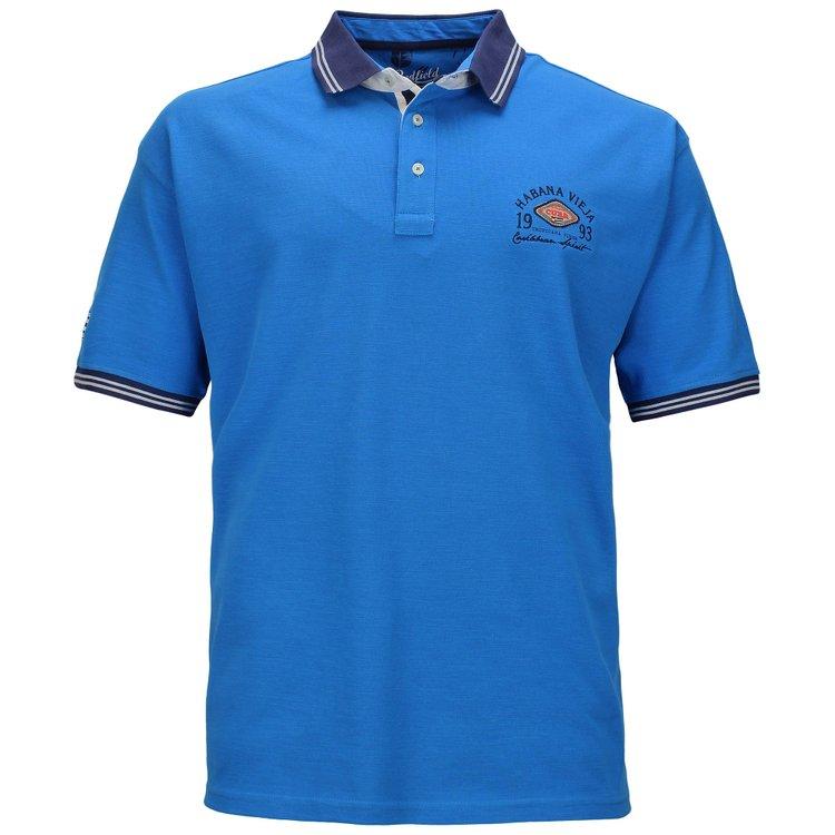 Übergrößen Poloshirt, malibu blau