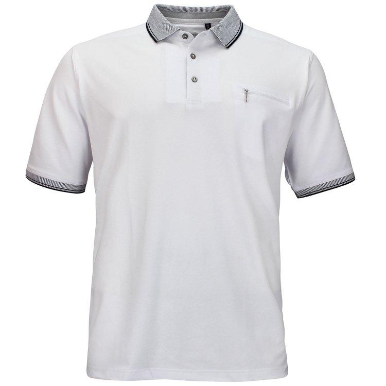 Poloshirt in Übergröße, weiß