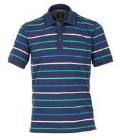 Casa Moda Poloshirt in Übergröße - blau gestreift 001