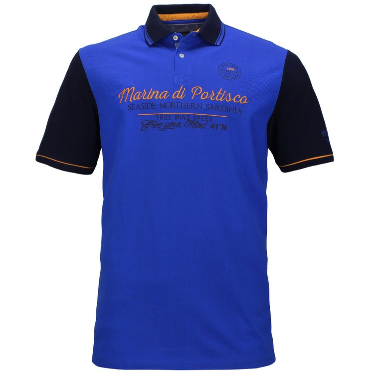 Poloshirts extra lang, blau