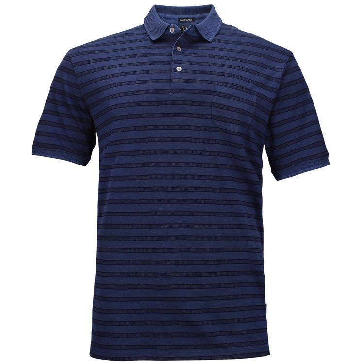 Kitaro Poloshirt Überlänge, blau
