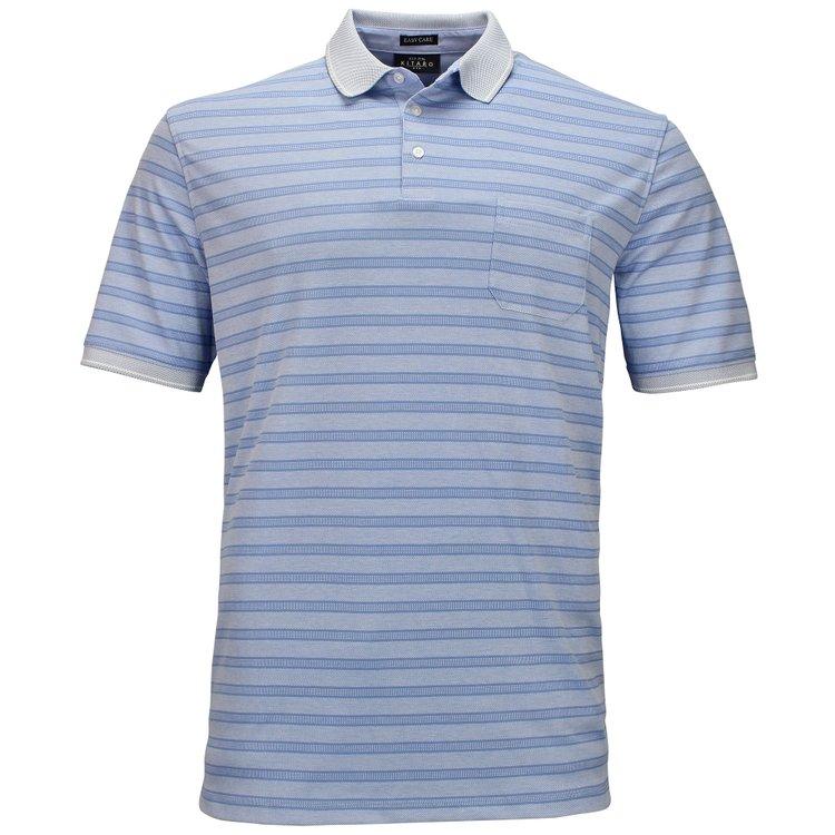 Poloshirts in Überlänge, hellblau
