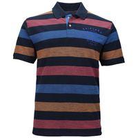 Kitaro Poloshirt in Übergrößen - dunkelblau gestreift 001