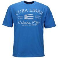 Redfield T-Shirt Übergröße - Cuba Libre - malibu blau 001