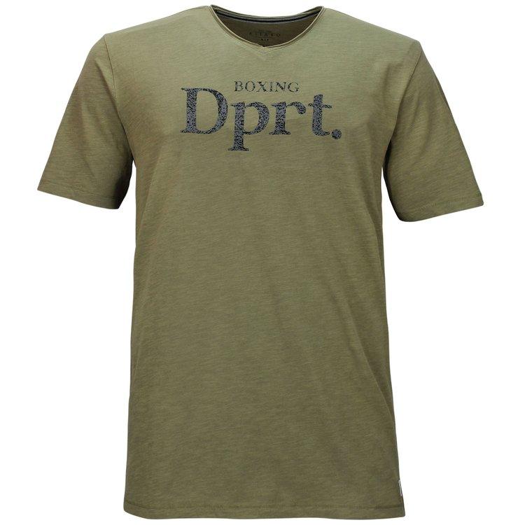 Kitaro T-Shirt in Überlänge, oliv