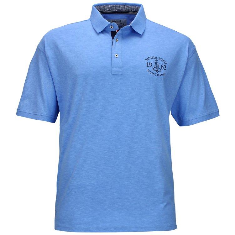Poloshirt Übergröße in blau