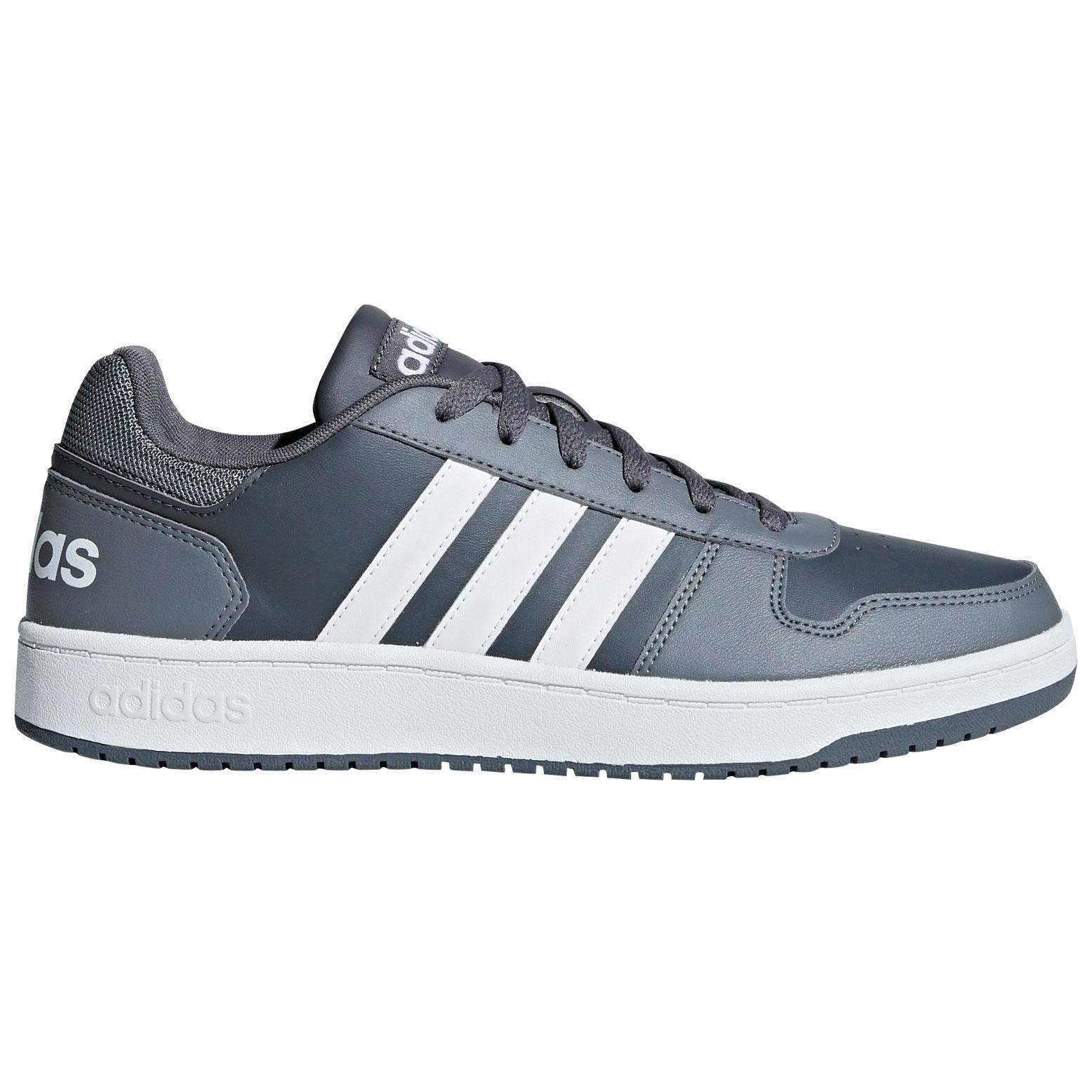 adidas Herren Sneaker in Übergröße - Hoops 2.0 - grau 4dfb9c7774