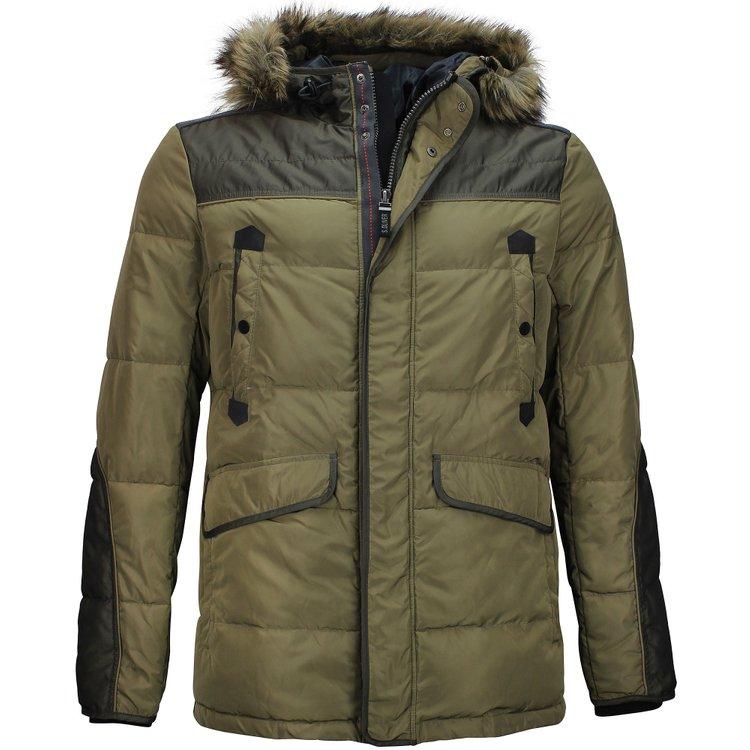 Winterjacke extra langer Arm, khaki/braun