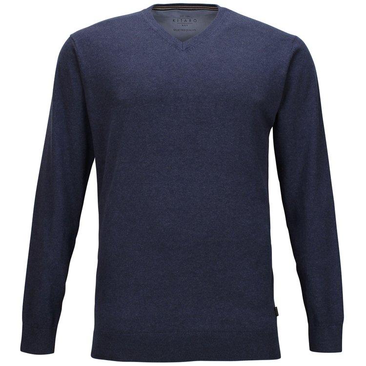 Kitaro Pullover extra lang - blau