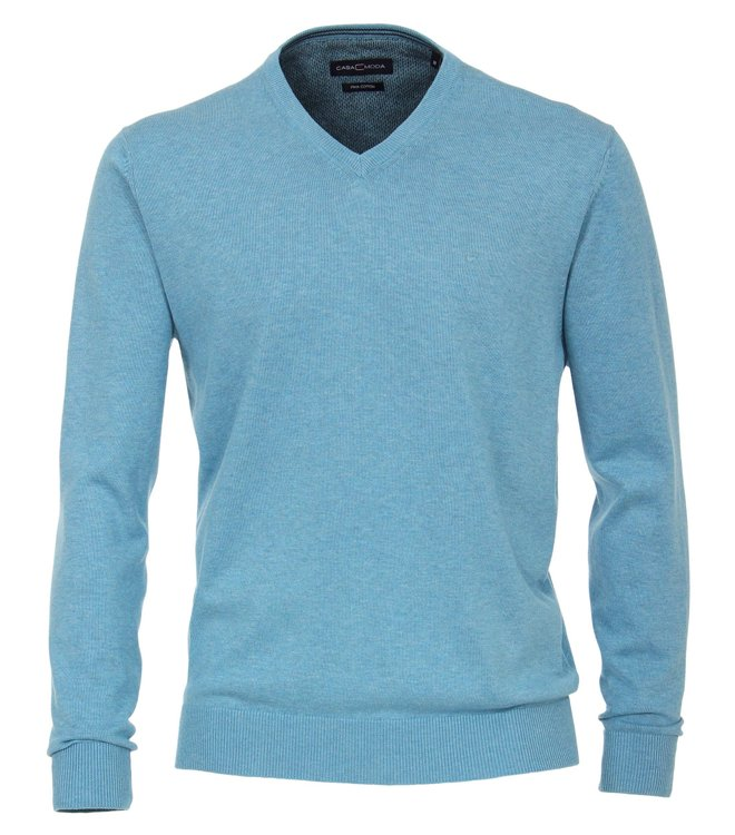 Casa Moda Pullover mit V-Ausschnitt - grünblau