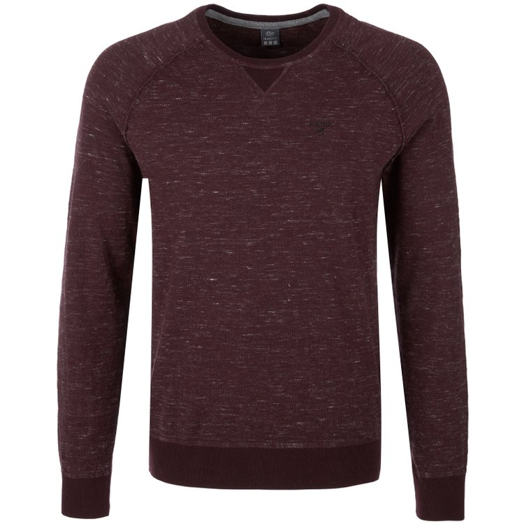 s.Oliver Pullover extra lang - beere meliert
