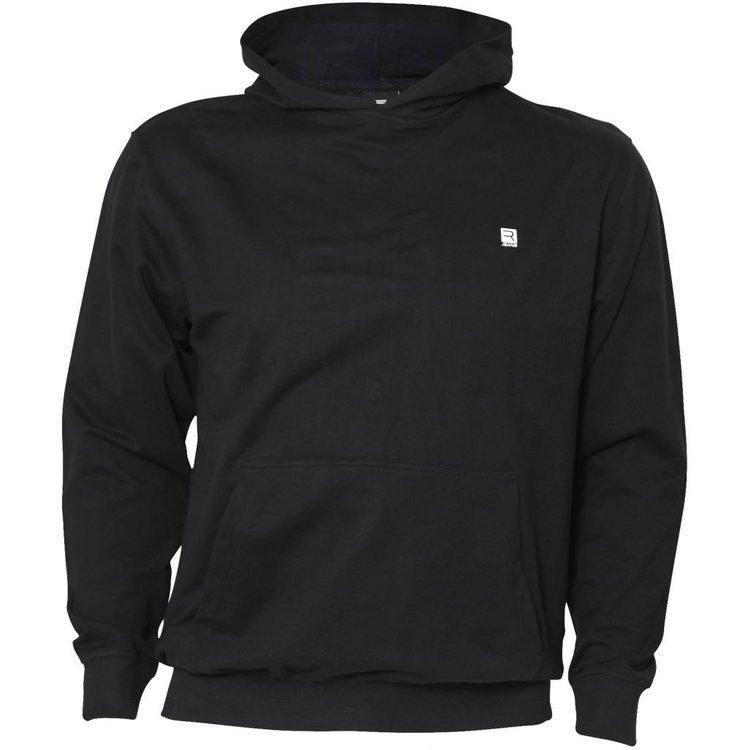 Replika Kapuzensweatshirt extra langer Arm - schwarz