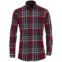 Casa Moda Flanellhemd in großen Größen - rot/blau kariert 001