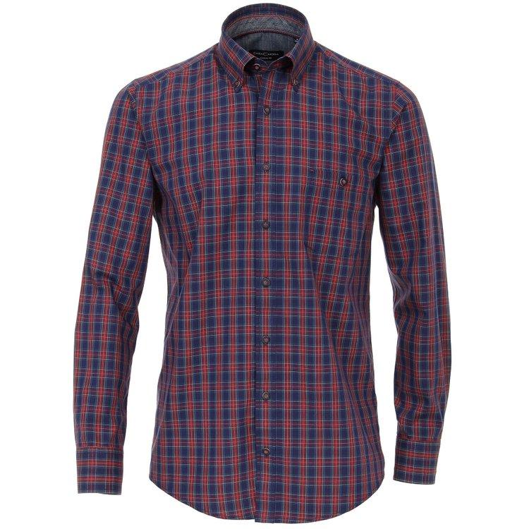 Freizeithemd in Übergröße - rot/blau kariert