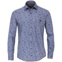 Casa Moda Freizeithemd in Übergröße - blau bedruckt 001