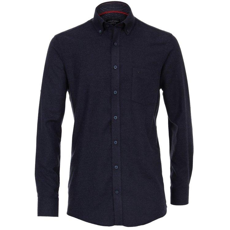 Casa Moda Flanellhemd extra lang, Comfort Fit - dunkelblau