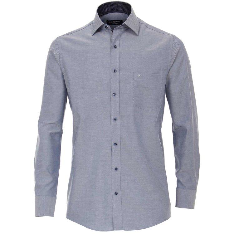 Casa Moda Hemd extra lang - blau strukturiert