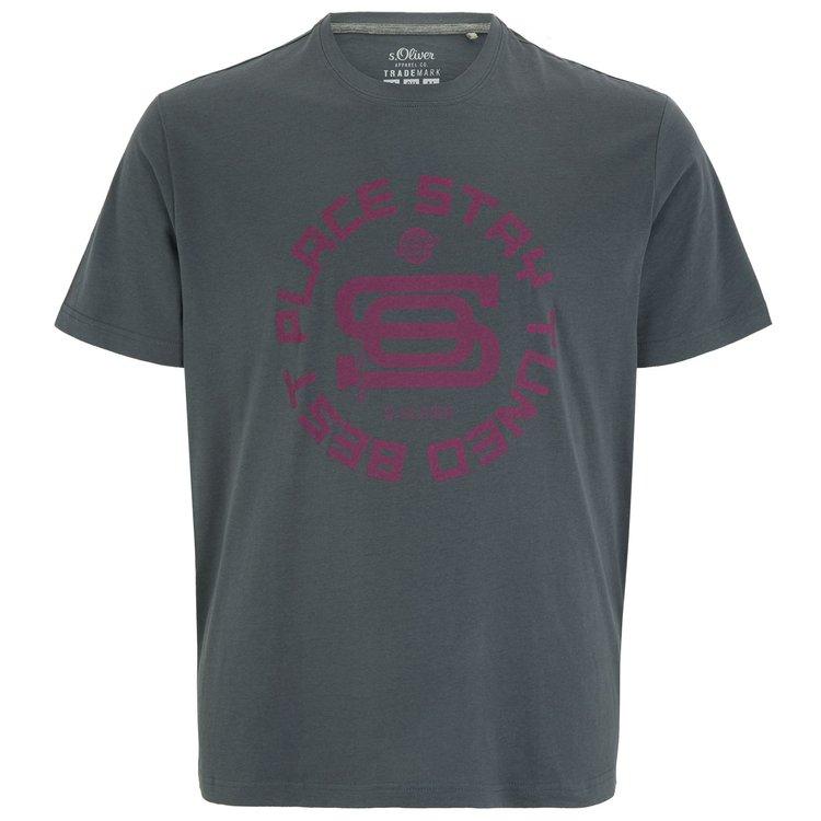 s.Oliver T-Shirt in großen Größen - vulkangrau