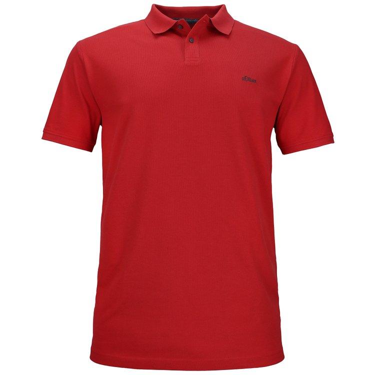 s.Oliver Piqué Poloshirt extra lang - rot