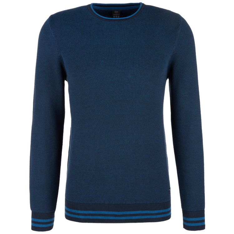 Pullover extra langer Arm, blau